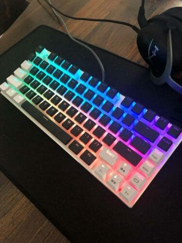 E-Element Z88 RGB with HyperX Pudding Keycaps - One Of The Best Keyboards For Typing Fast
