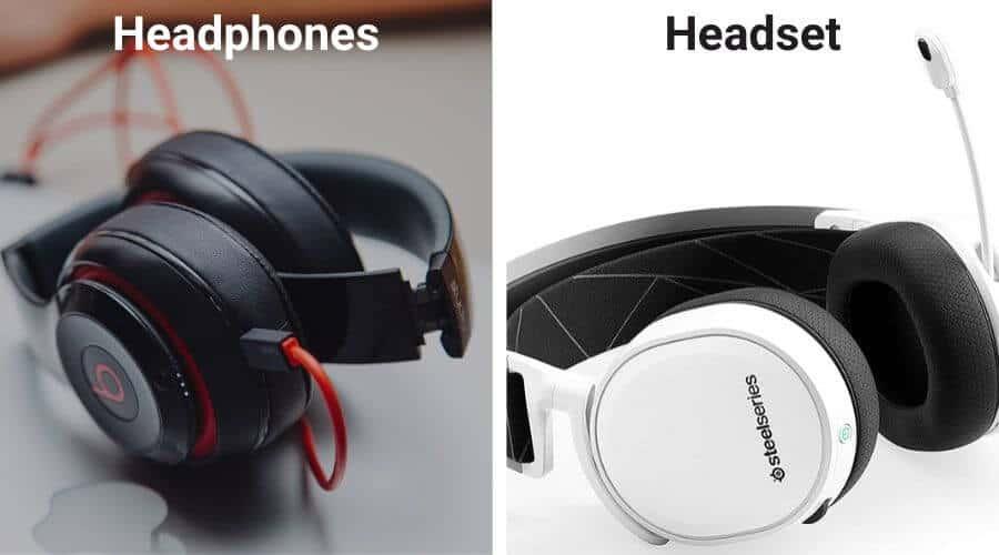 Headphones vs Headset differences