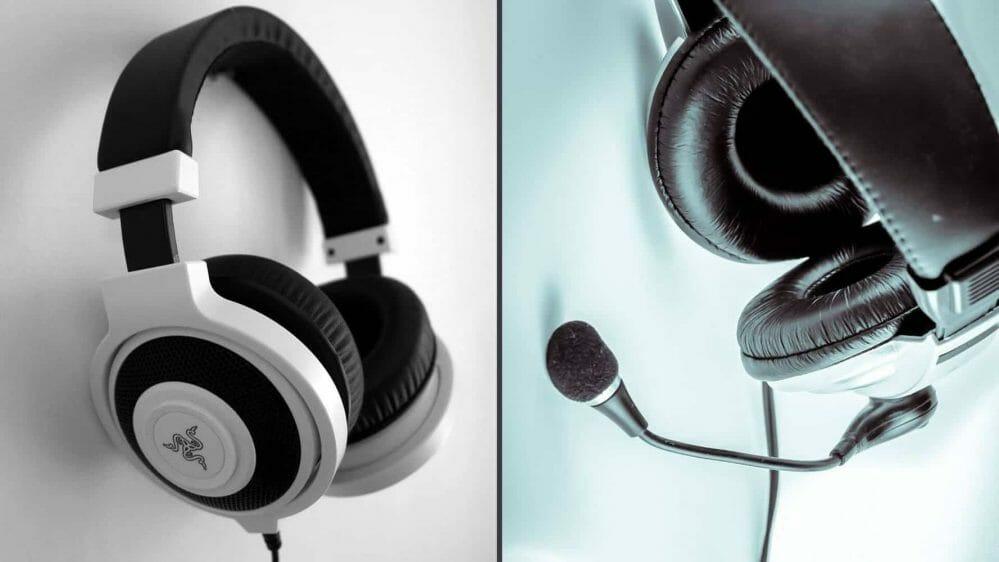 Headset vs headphones comparison guide.