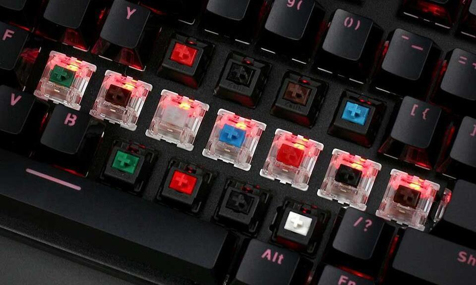 Example of some mechanical switches for the best silent keyboard