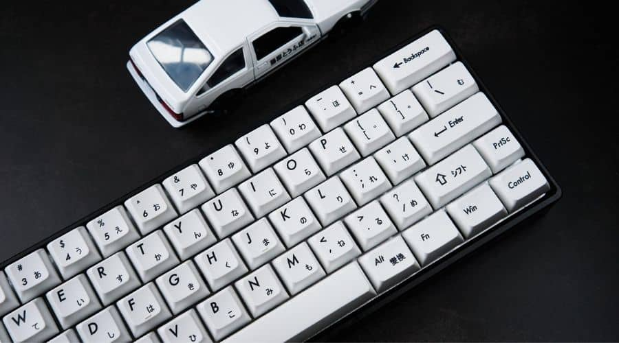 Example of some awesome keycap designs when choosing the best white gaming keyboard.