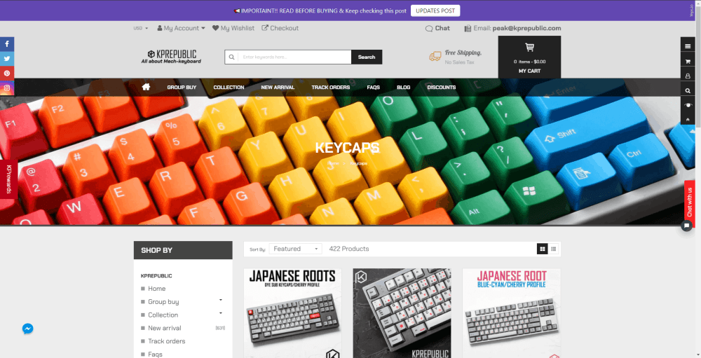 Where to buy custom keycaps: KP Republic