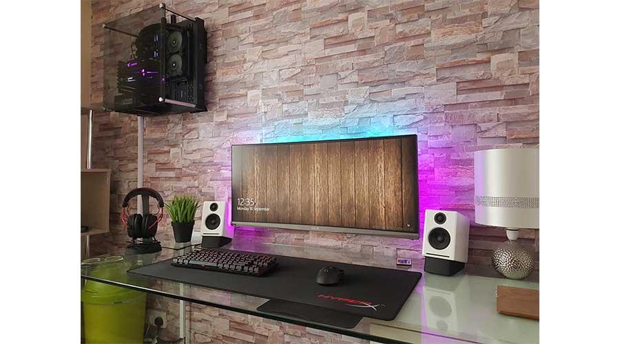 Custom Wall Mounted PC Setup